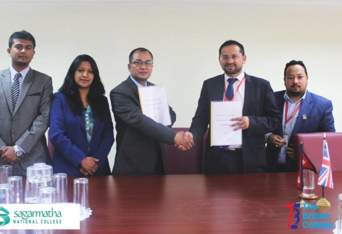 MoU signing with The British College
